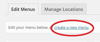 Subcategory Pages Step 2 Create a Menu