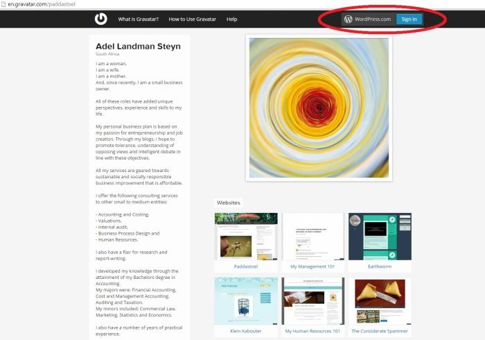 Sign in using WordPress